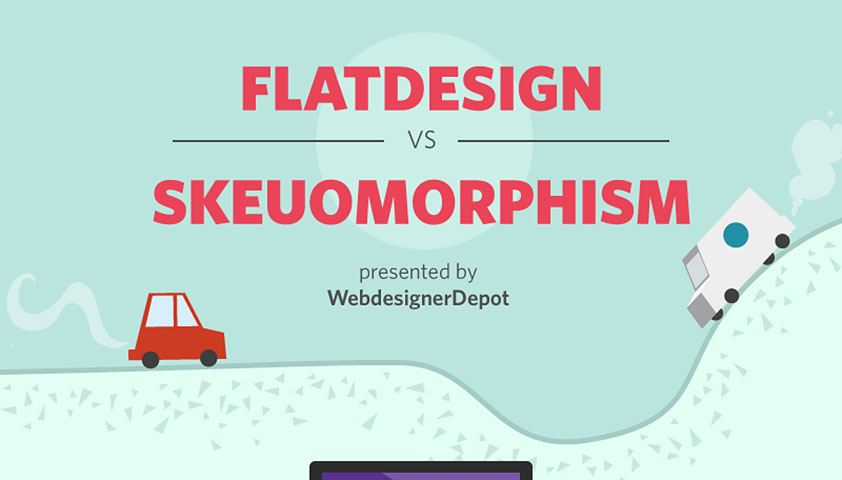 Infographic: Drawbacks and Benefits of Flat Design and Skeuomorphism
