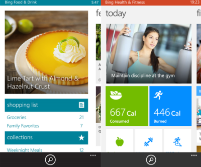 Bing Launches Three New Apps for Windows Phone: Travel, Food & Health