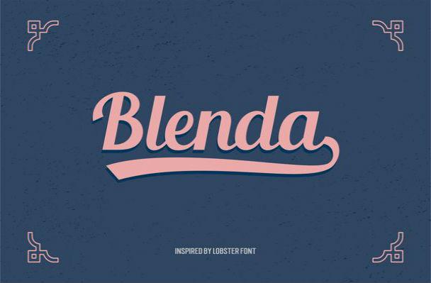 blenda-script-free-font