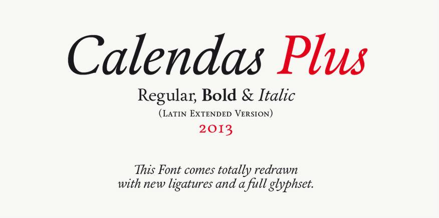 calendas-plus-free-font