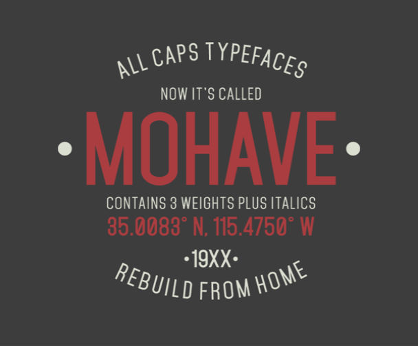 mohave-free-font