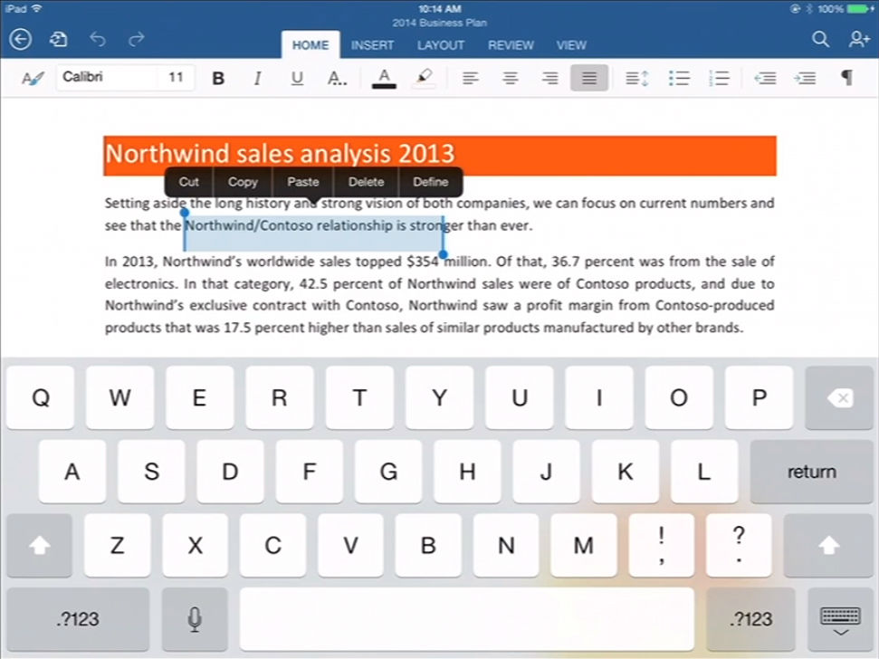 office-for-ipad-word-highlight