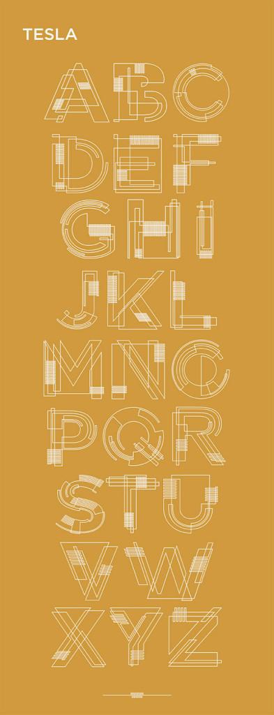 tesla-free-font