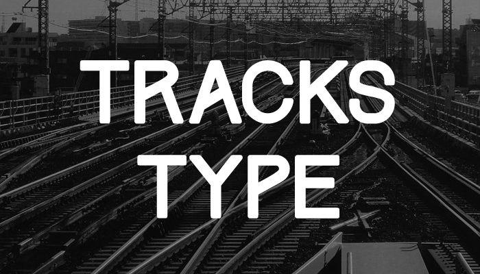 tracks-free-font