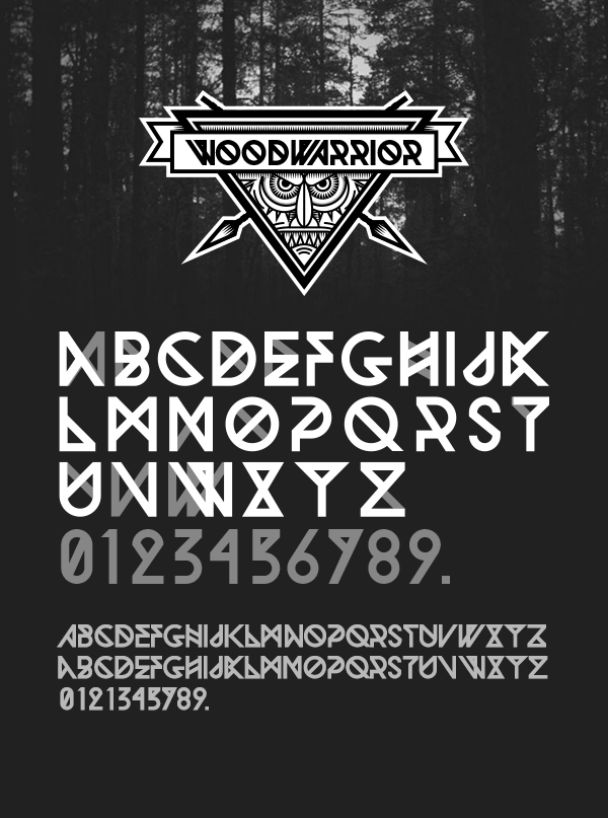 woodwarrior-free-font