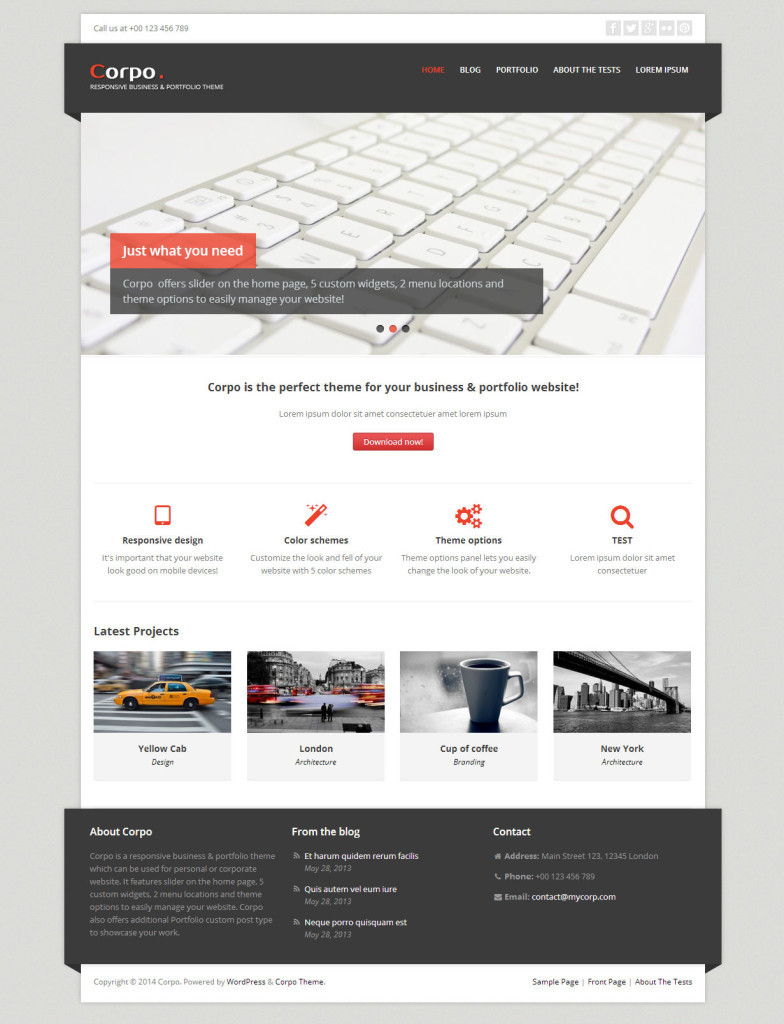 51 best free wordpress themes corpo best free wordpress themes48 corpo is a responsive business and portfolio theme flashek Images
