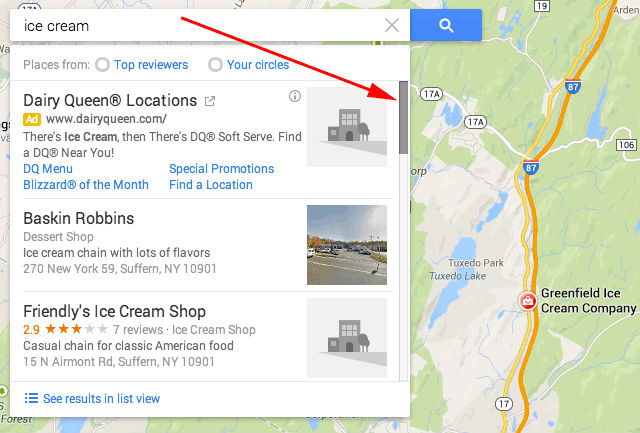 google-maps-search-scroll-bar