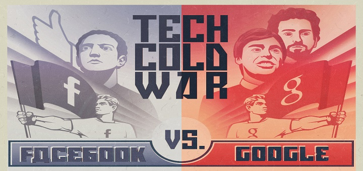 Facebook vs. Google: Who Will Win The Tech Cold War? [Infographic]