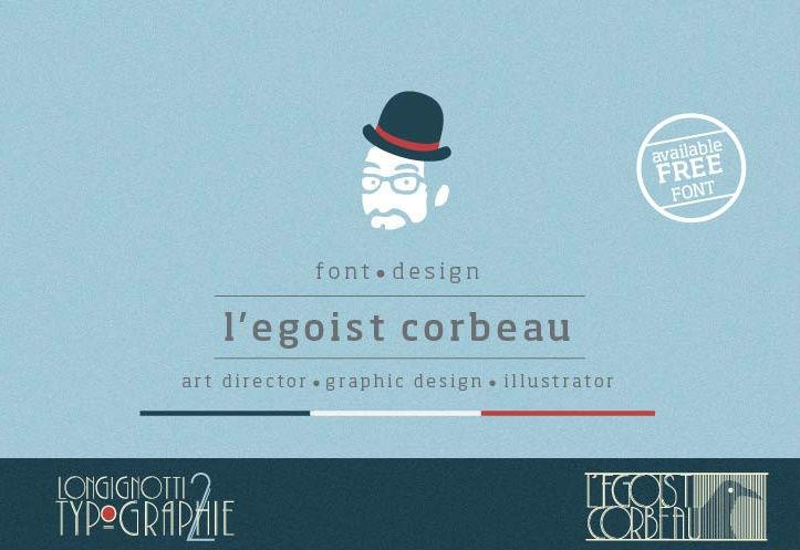 l'egoist-corbeau-free-font