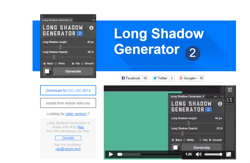 Long Shadow Generator 2 - free-photoshop-plugin-27