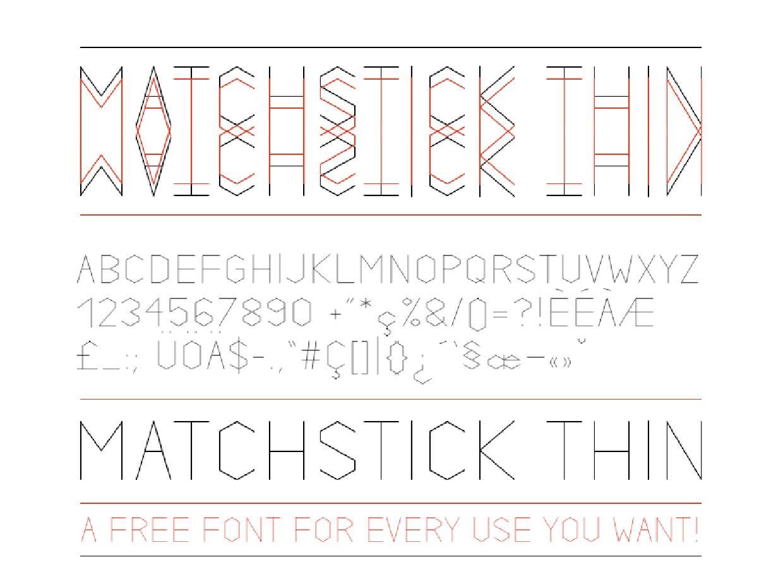matchstick-thin-free-font-084