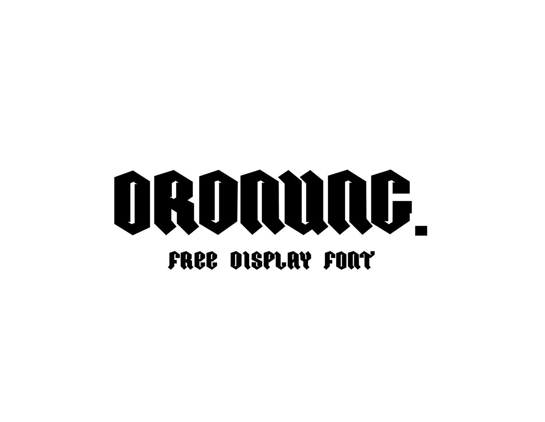 ordnung-free-font-032