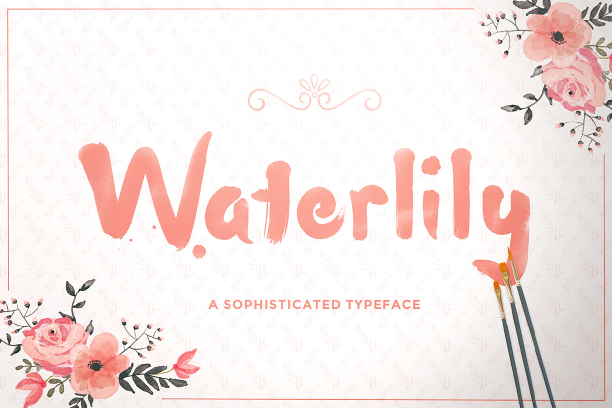 waterlily-free-font-011