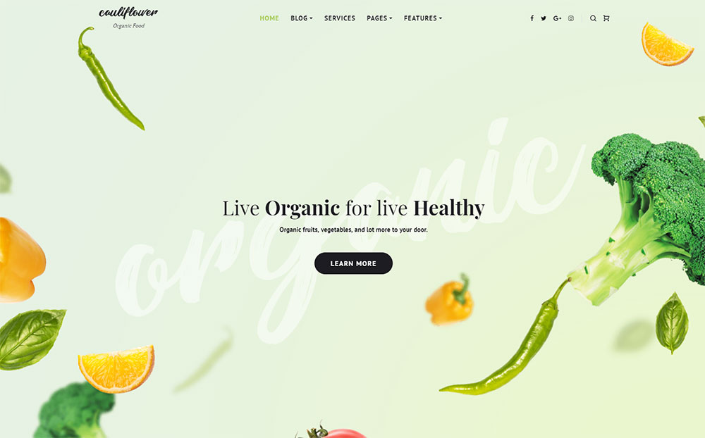cauliflower-organic-food-and-nutrition-blog-elementor-wordpress-theme